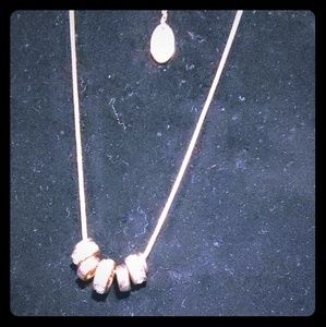 Silver over rose gold tone necklace
